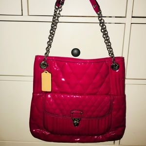 COACH Liquid Gloss SlimTote/Quilted Patent-NWOT